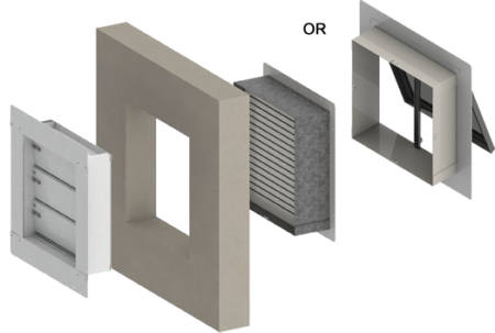 External Wall Installation Pressure Relief Vent